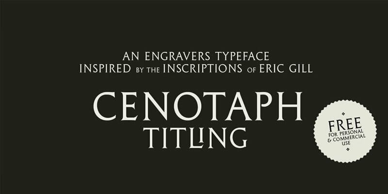 Cenotaph Titling Typeface