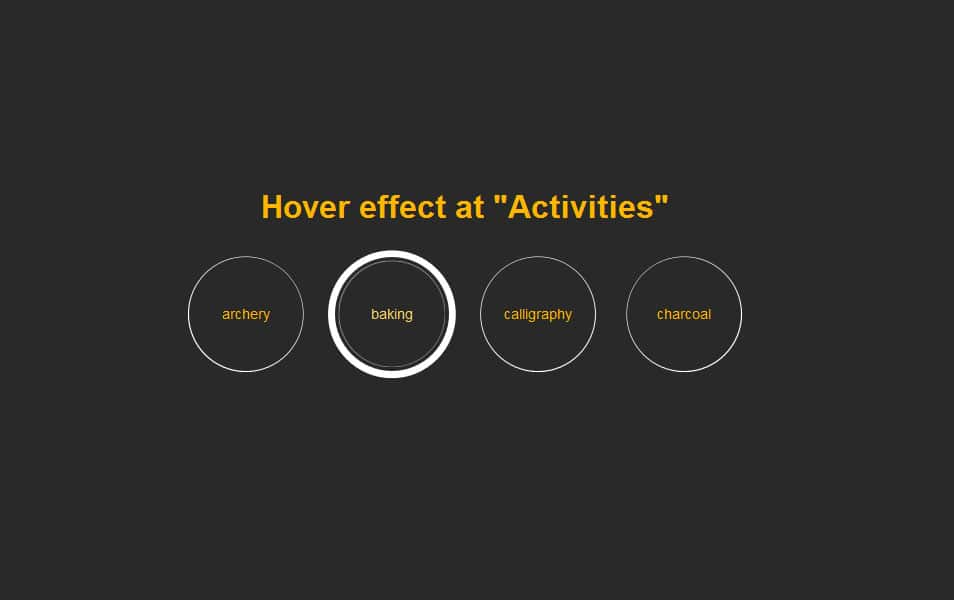 Circle button hover effect