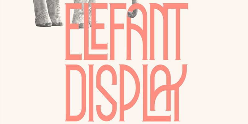Elefant Display Typeface