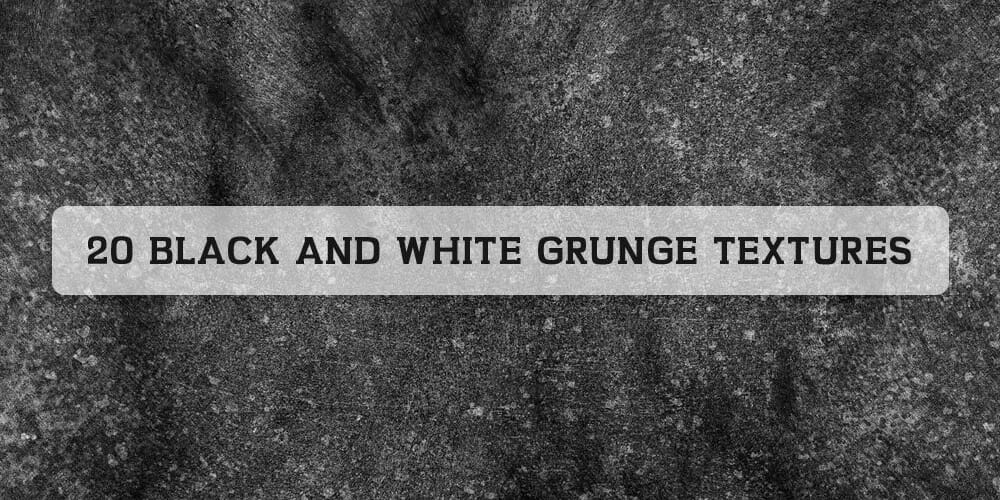 Free Black And White Grunge Textures