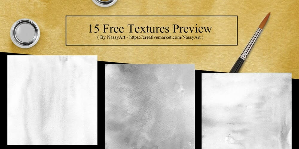 Free Gold and Silver Colors Watercolor Textures