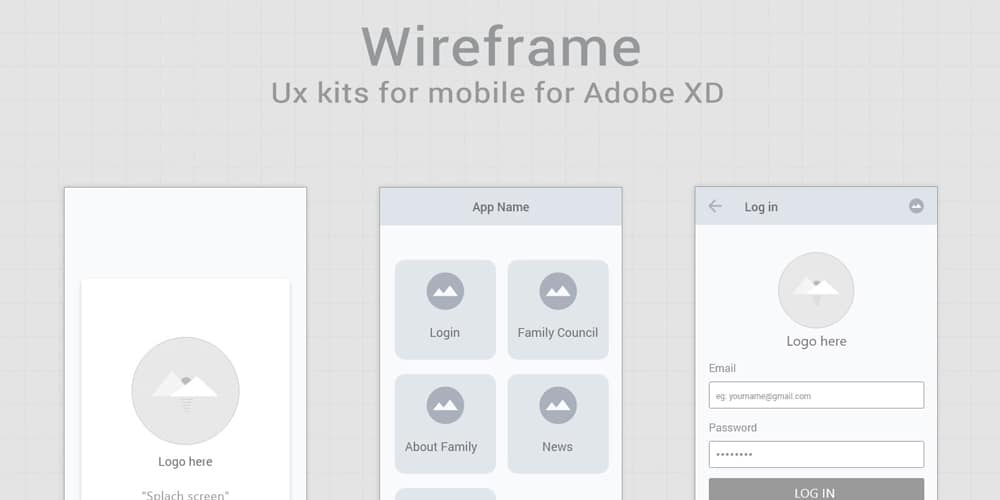 Free Wireframe Kits for Adobe XD