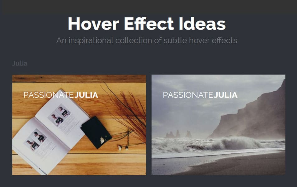 Ideas for Subtle Hover Effects