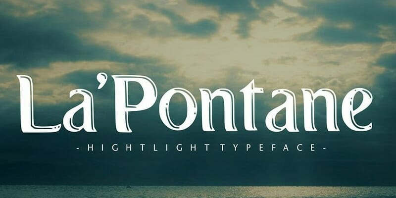 LaPontane Display Typeface