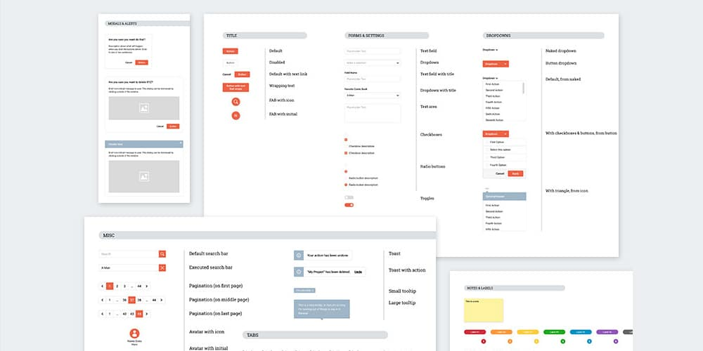 Sketch Wireframe Kit