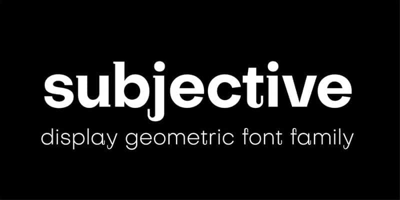 Subjective Display Font