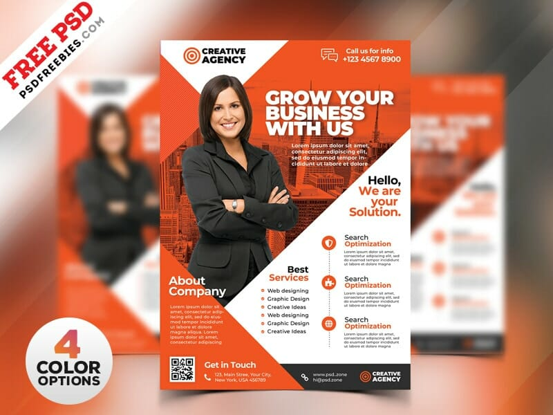 Best free flyer templates psd css author business flyer design templates psd accmission Gallery