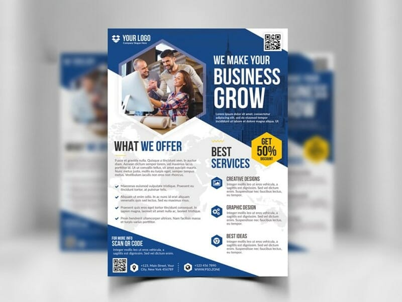 Best free flyer templates psd css author business flyer template psd fbccfo Choice Image