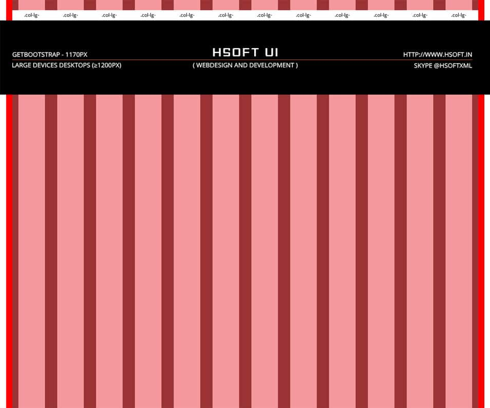 Free 12 Column Bootstrap v3.0.0 Grid Pattern PSD