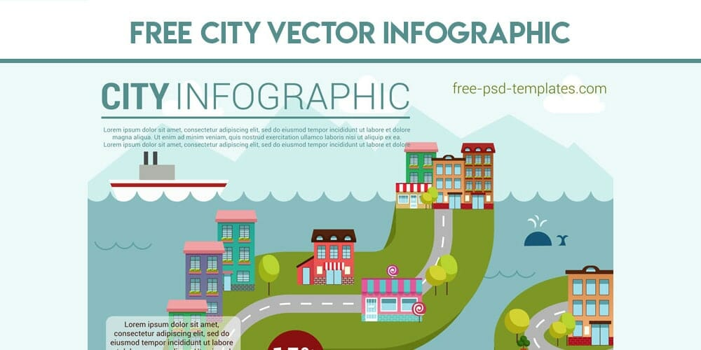 Free City Vector Infographic