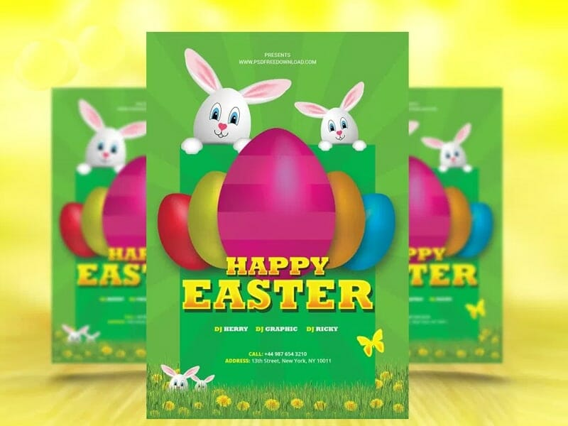 Free Easter Flyer Template PSD