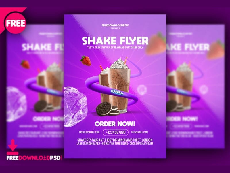 Shakes Flyer Template PSD
