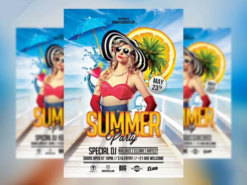 Summer Party Flyer PSD