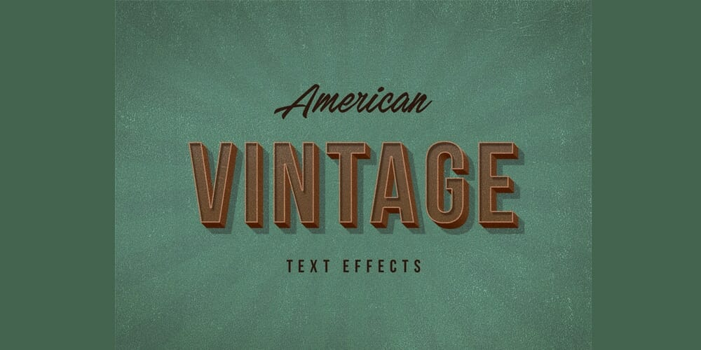 American Vintage Text Effects PSD