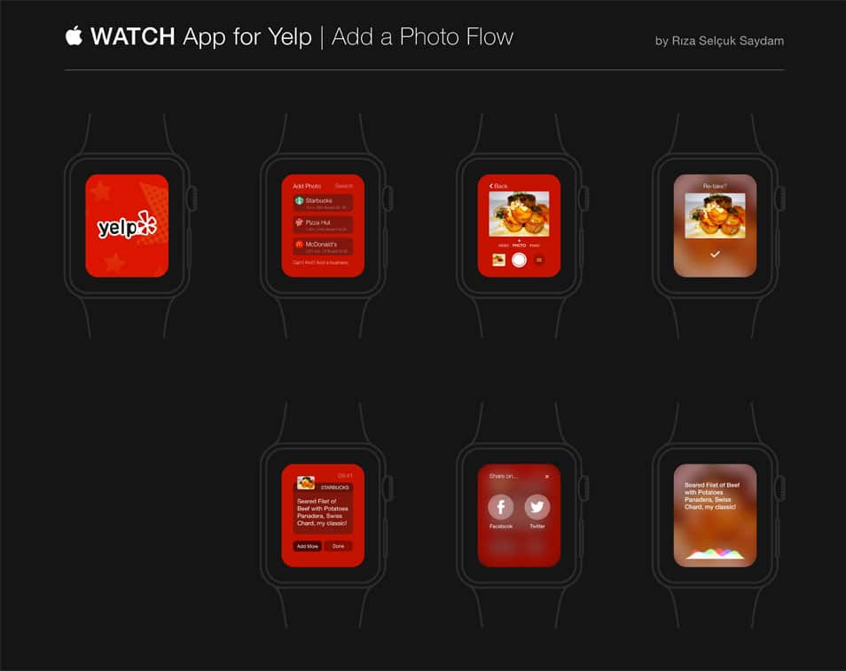 Apple Watch App Concept Sketch
