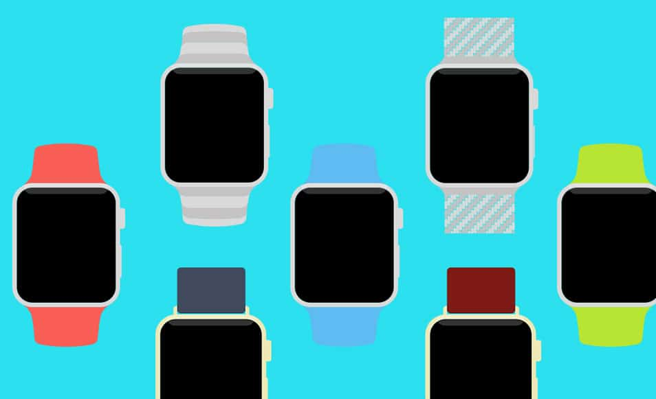 Apple Watch Flat PSD Template