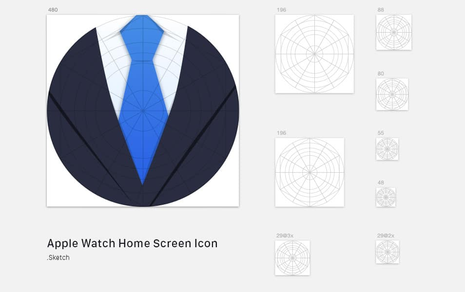 Apple Watch Home Screen Icon Sketch Template
