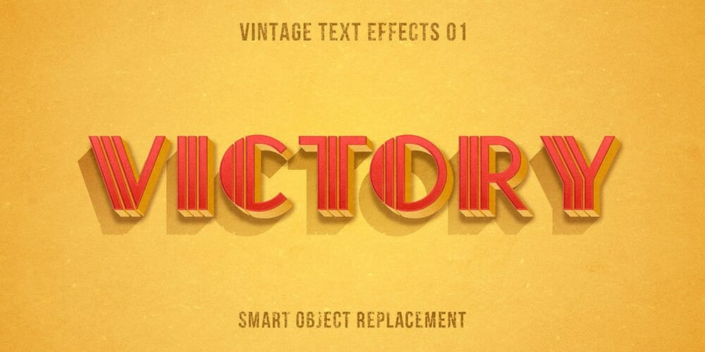 Authentic Vintage Text Effects PSD