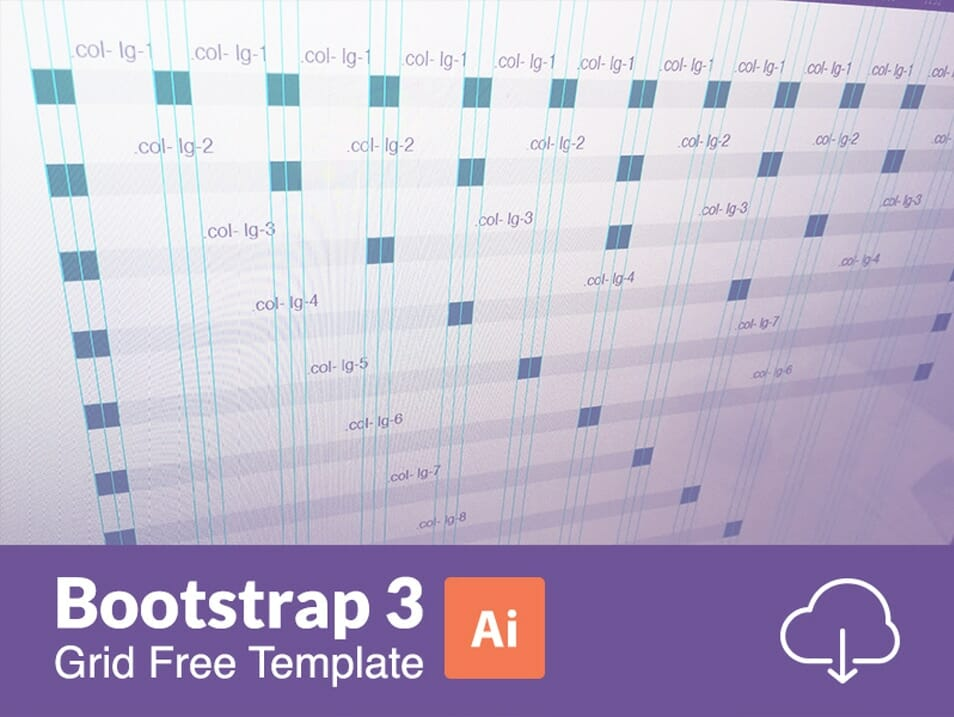 Bootstrap 3 Responsive Grid Illustratror Templates (AI)