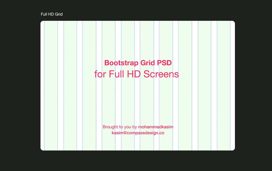 Bootstrap Grid PSD for Full HD Screens
