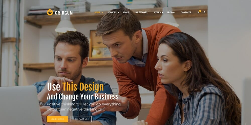 Business co Web Template PSD
