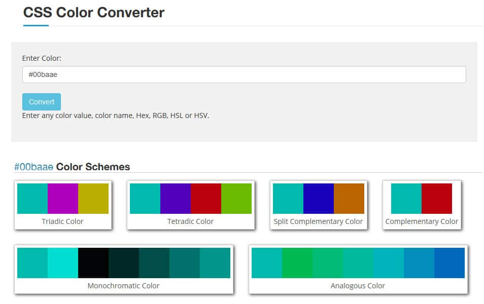 CSS Color Converter