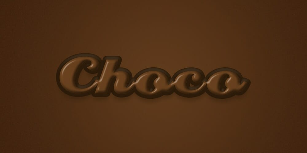 Chocolate Text Effect PSD