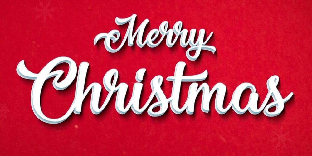 Christmas Text Effect PSD