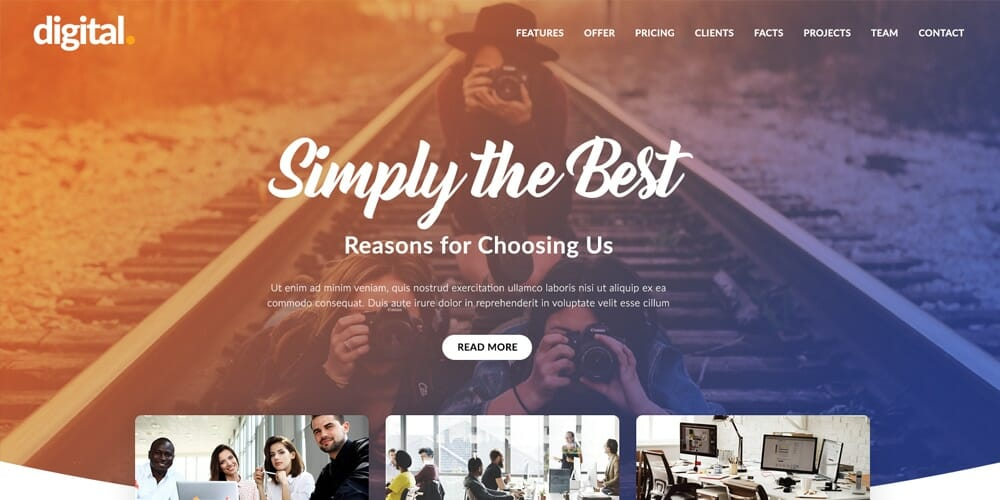 Creative Agency Web Template PSD