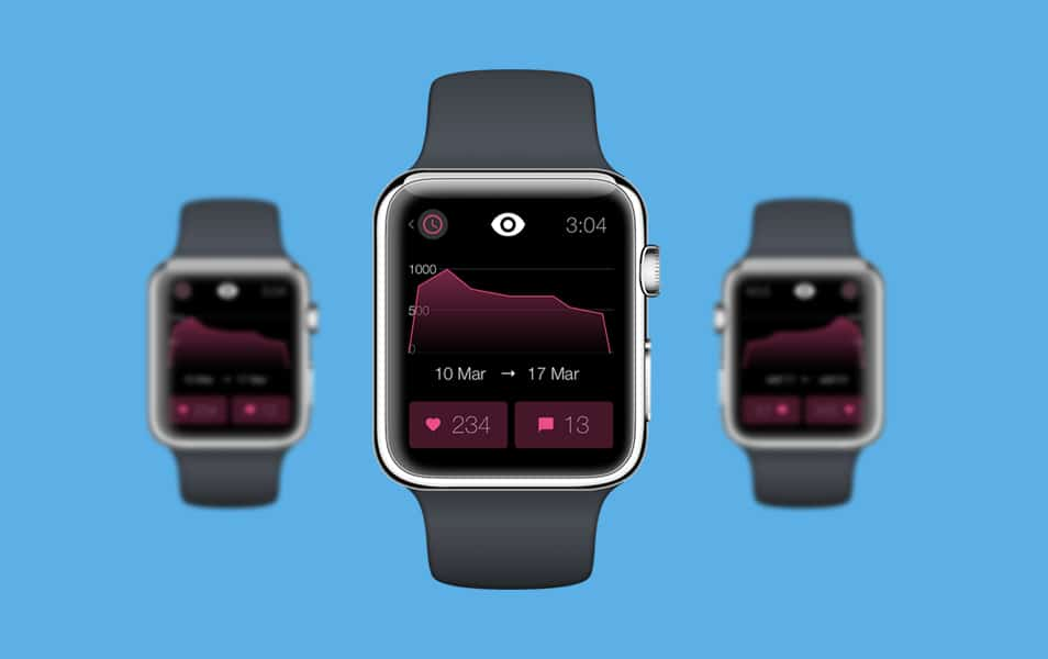 Dribbble for Apple Watch – Stats