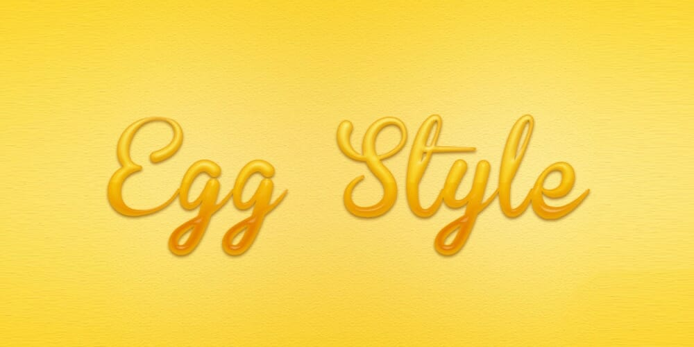Egg Text Layer Style PSD
