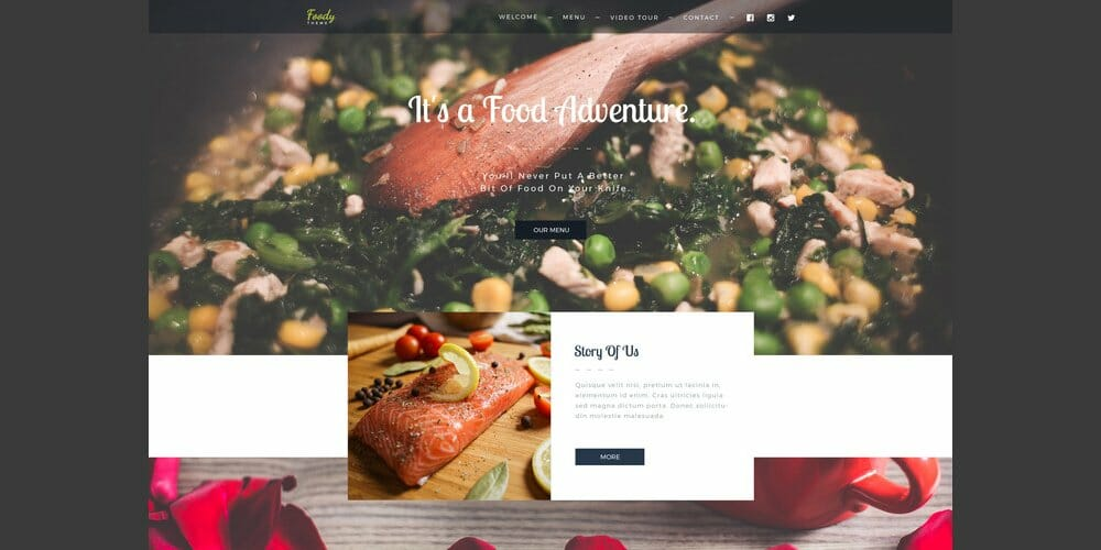 Foody Food Business Web Template PSD