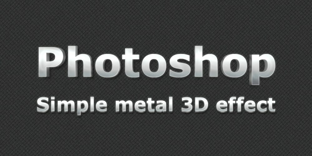 Free 3D Metal Style PSD