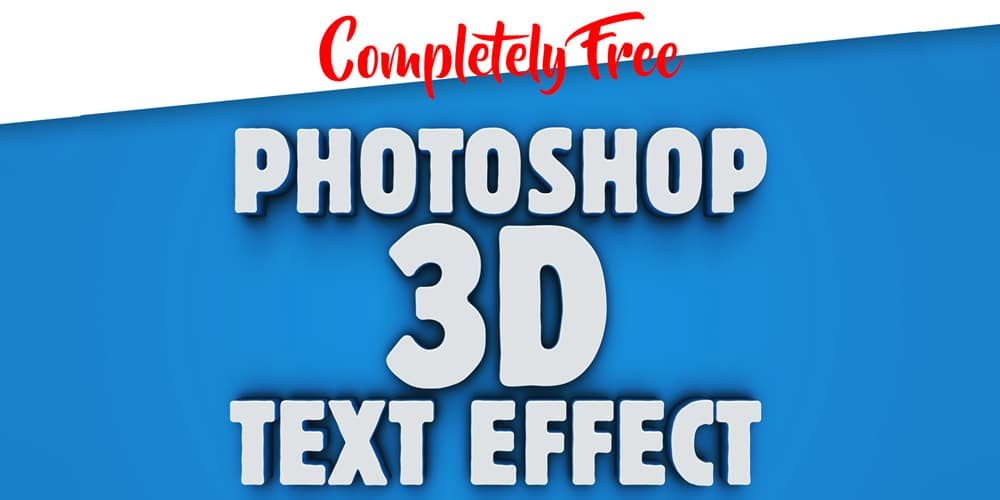 Free 3D Photoshop Text Effect PSD