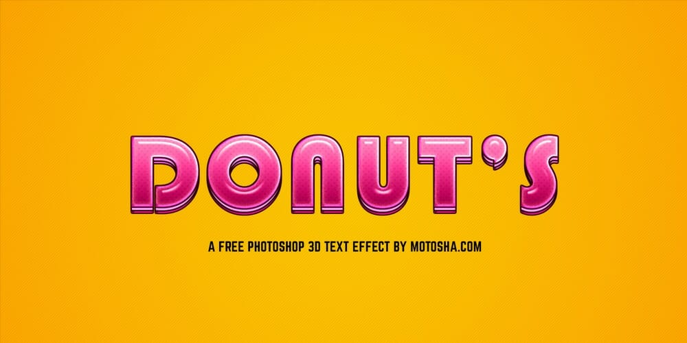 Free Candy Donuts Photoshop Text Effect PSD
