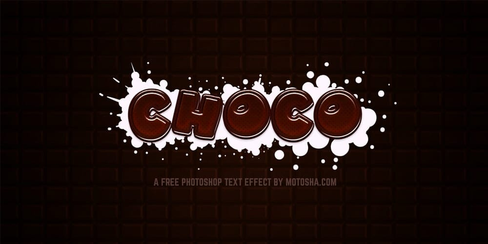 Free Chocolate Text Effect PSD