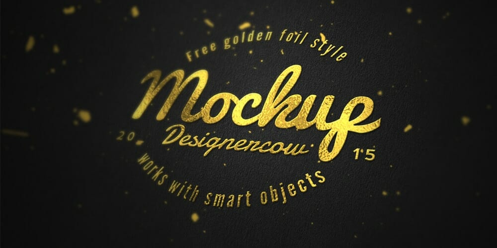 Free Gold Foil Effect PSD