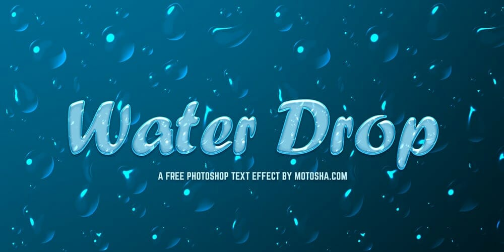 Free Photoshop Water Text Effect PSD