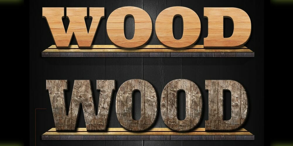 Free Photoshop Wood Styles PSD