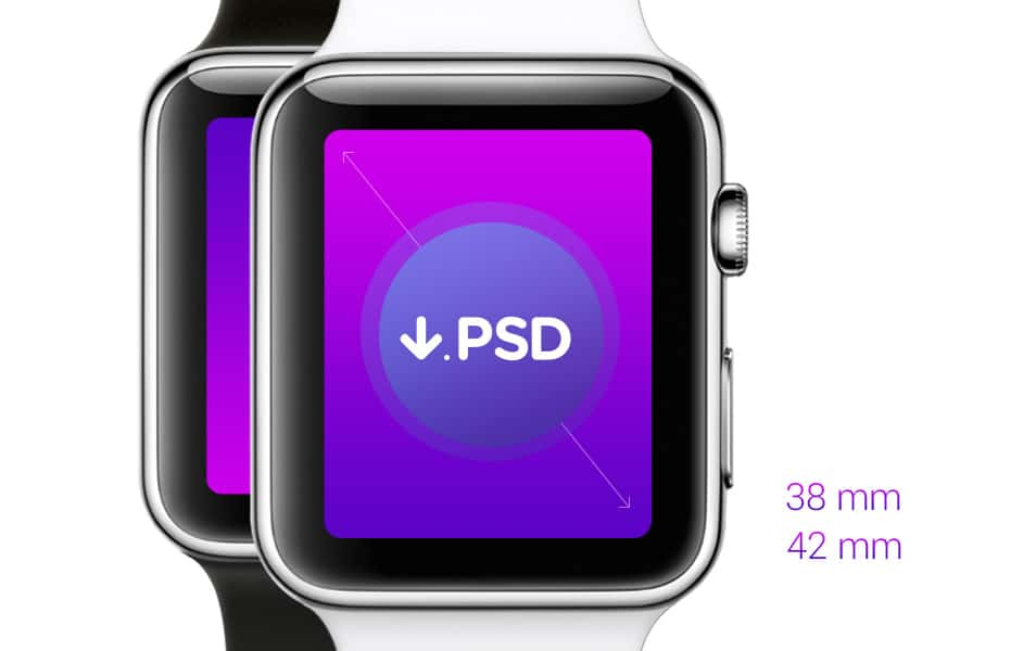 Free Psd iWatch Template