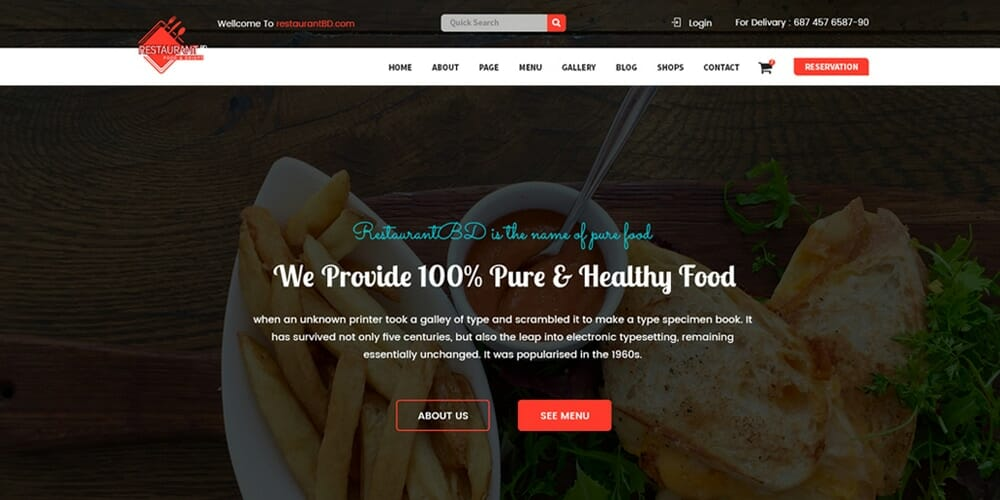 Free web templates from 2018 css author free restaurant template psd maxwellsz