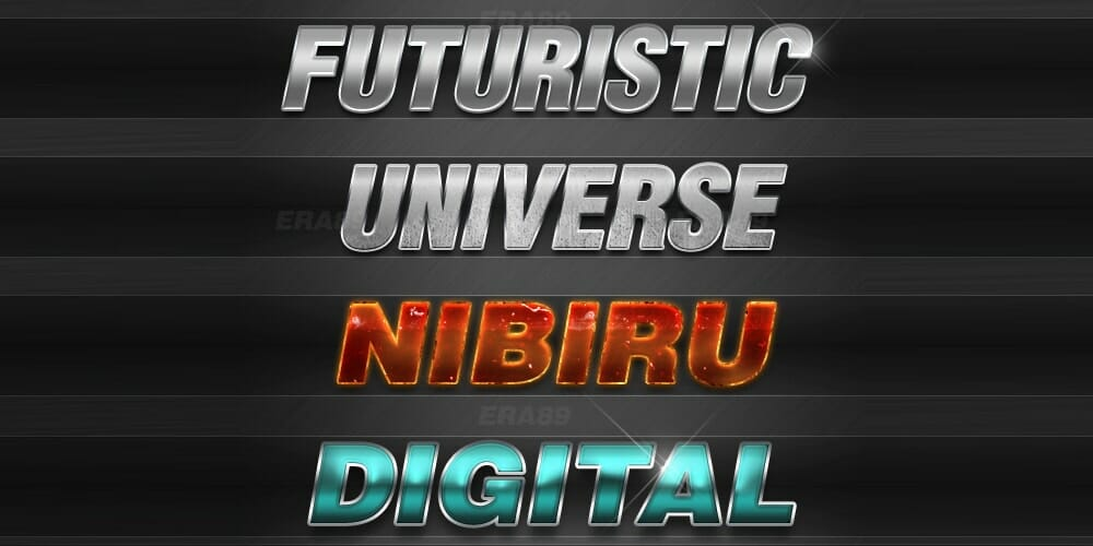 Free Sci-Fi Text Effects PSD