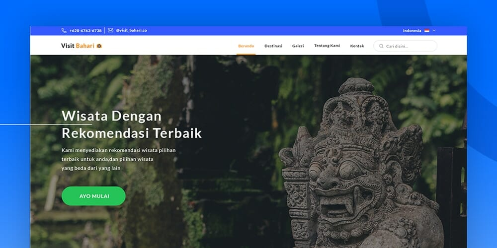 Free Travel Website Design PSD
