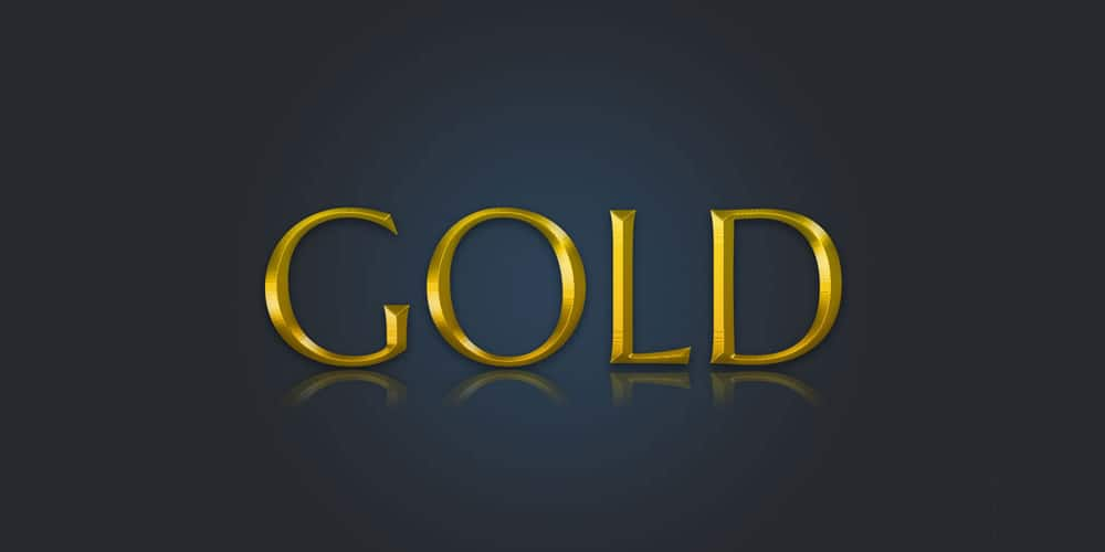 Gold Text Layer Style PSD