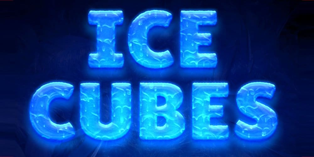 Ice Cubes Text Style PSD