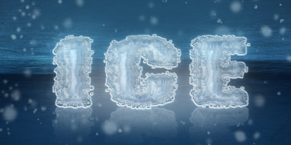 Ice Text Effect PSD