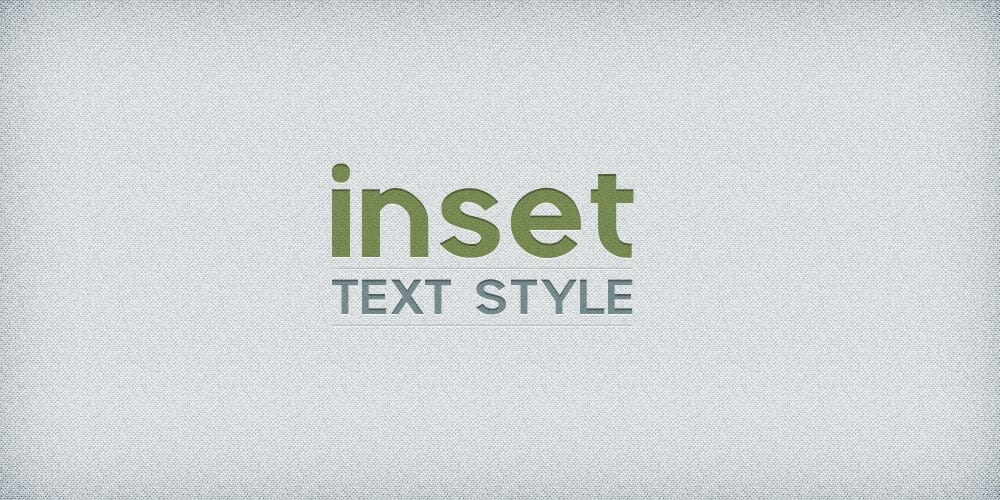 Inset Text Layer Style PSD