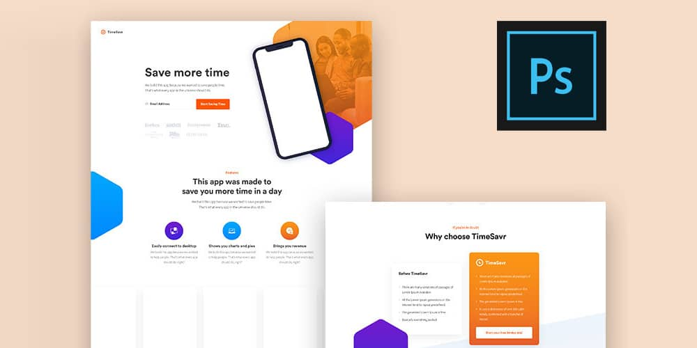 Landing Page Template for App