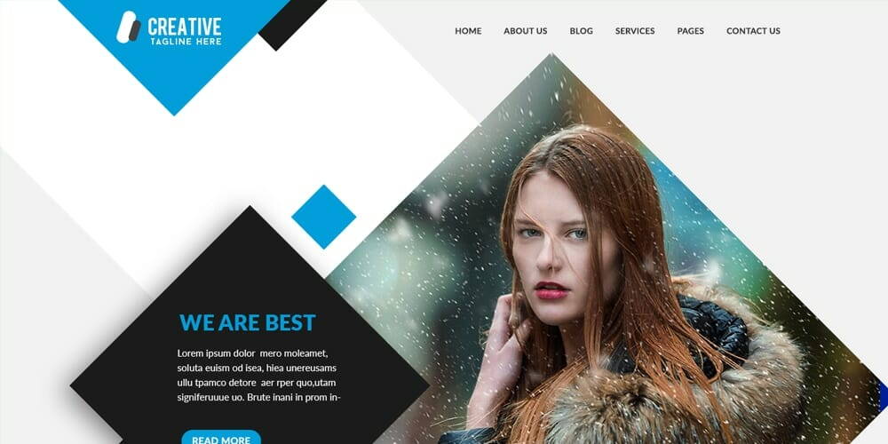 Multipurpose Portfolio Website Template PSD