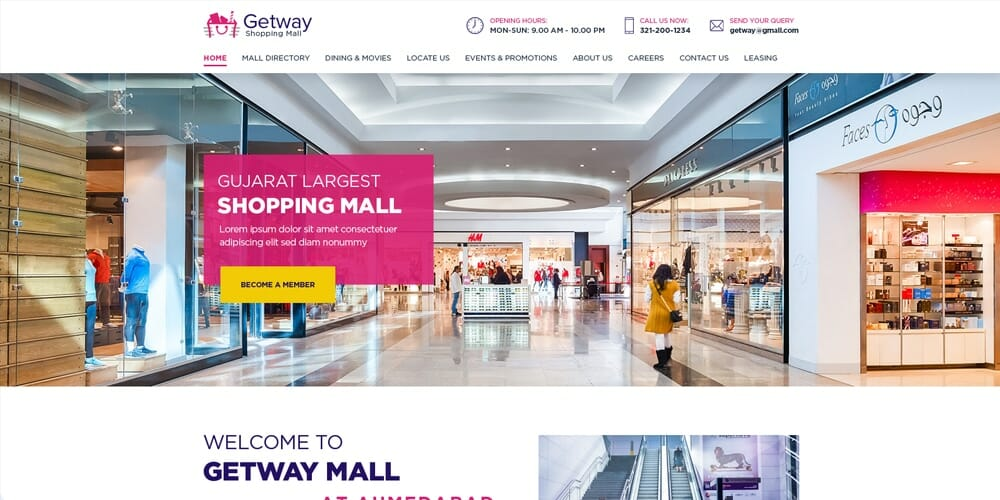Shoppiong Mall Landing Page PSD